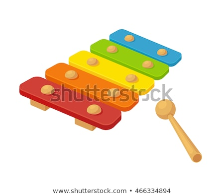 wooden rainbow colors xylophone toy isolated on white stock photo © johnkasawa