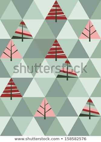 bağbozumu · renk · kare · geometrik · üçgen · duvar · kağıdı - stok fotoğraf © hermione