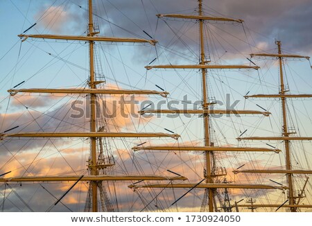 Sailboat mast at sunset Stock photo © czbalazs