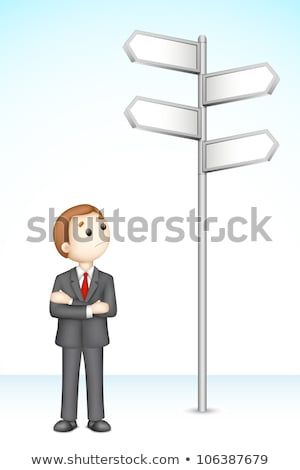 3d business man in fully scalable vector stock photo © vectomart