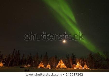 風景 雲 革 テント 構造 屋外 ストックフォト © rhamm