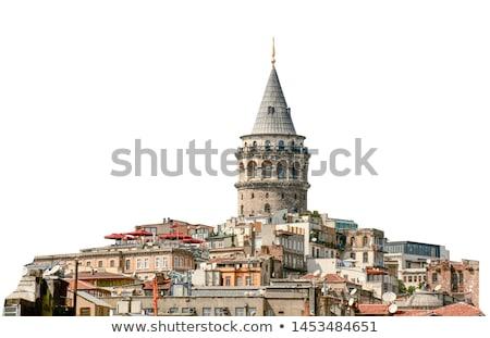 Isztambul · éjszaka · sziluett · híd · arany · duda - stock fotó © andreykr