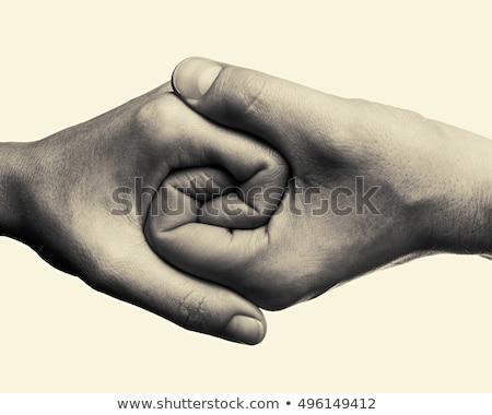 helpende · hand · solidariteit · dienst · bureau · straat - stockfoto © nelosa