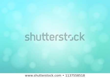 Stock photo: vector turquoise bokeh
