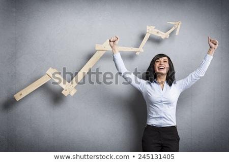 Lelkes üzletasszony nő munka igazgató munkás Stock fotó © photography33
