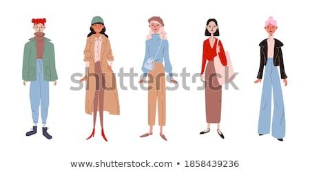 美少女 立って ジーンズ ファッション モデル 髪 ストックフォト © PlusProduction