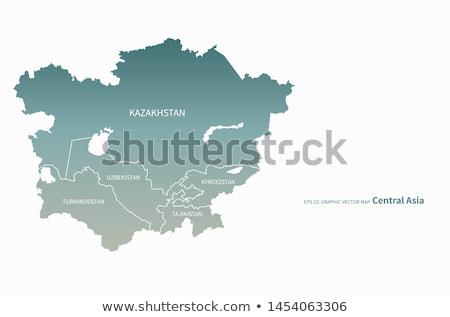 Asia map with Tajikistan Stock photo © Ustofre9