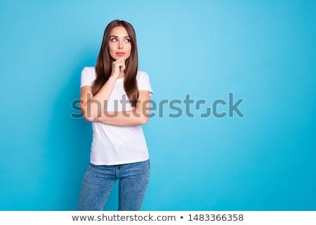 молодые деловая женщина задумчивый предполагать портрет Сток-фото © juniart