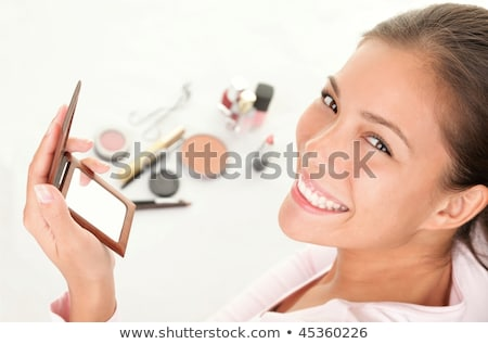 giovani · donna · sorridente · compongono · isolato · bianco · donna - foto d'archivio © maridav
