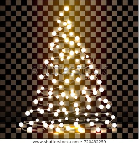 Noel ağacı ampul beyaz dizayn arka plan kırmızı Stok fotoğraf © vladodelic