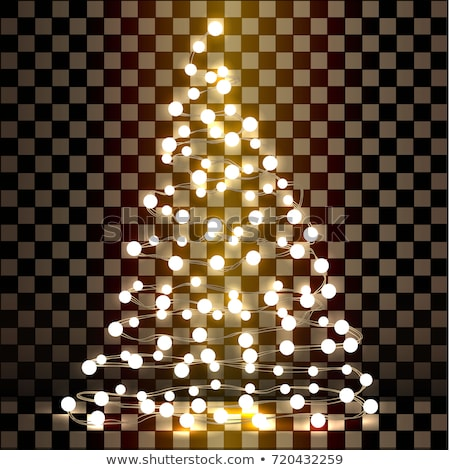 kerstboom · gloeilamp · witte · ontwerp · achtergrond · Rood - stockfoto © vladodelic