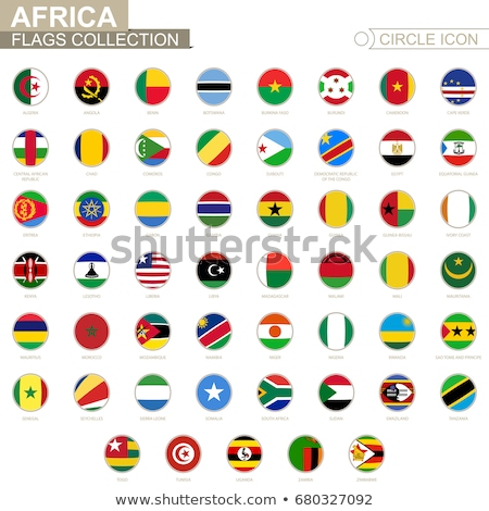 Сток-фото: вектора · флаг · набор · африканских