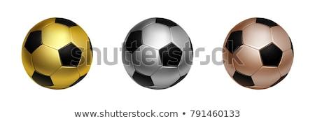 Foto stock: Soccer Ball Gold Silver