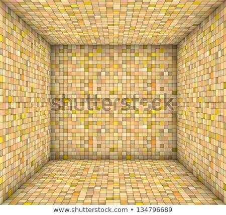 Mozaik tér csempézett üres hely narancs citromsárga Stock fotó © Melvin07