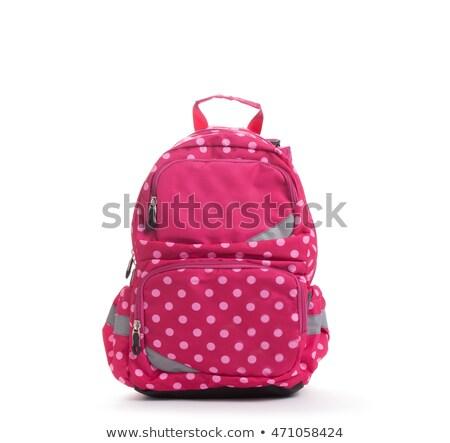 学校 · リュックサック · 白 · デスクトップ · レトロな - ストックフォト © shutswis