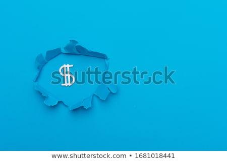 Coupé papier signe argent Finance banque Photo stock © idesign