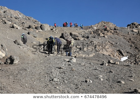 people climbing the Mount Kilimanjaro, the highest mountain in A Stock photo © meinzahn