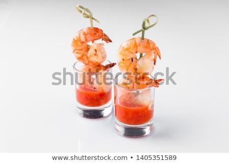Camarão comida creme celebração luxo dieta Foto stock © M-studio