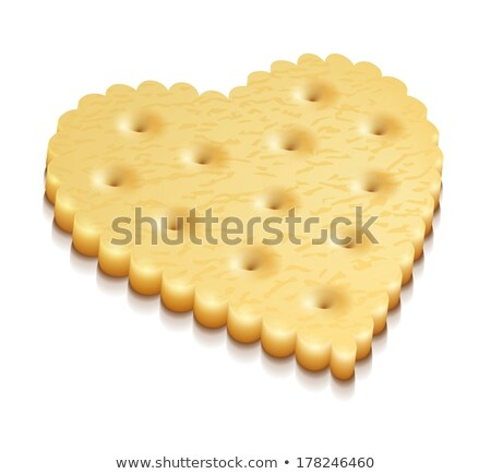 heart crisp cookie snacks isolated Stock photo © LoopAll
