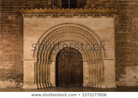 pequeno · velho · igreja · porta · edifício - foto stock © rglinsky77