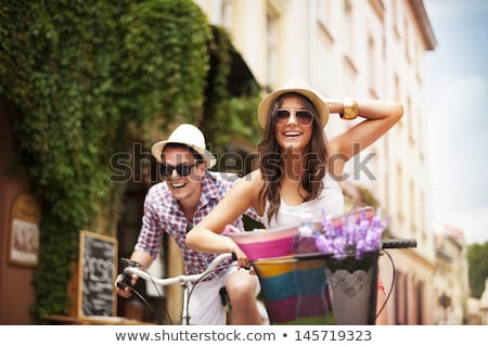 Happy life in city. Stock photo © Fisher