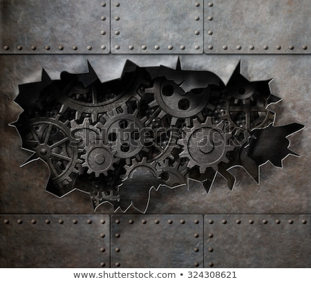 old metal cover with holes stock photo © nejron