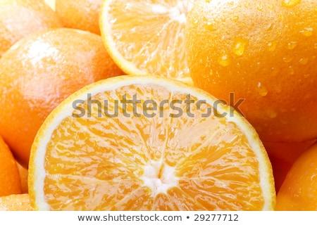 Fresh orange juice. High key, white background. Stock photo © dariazu