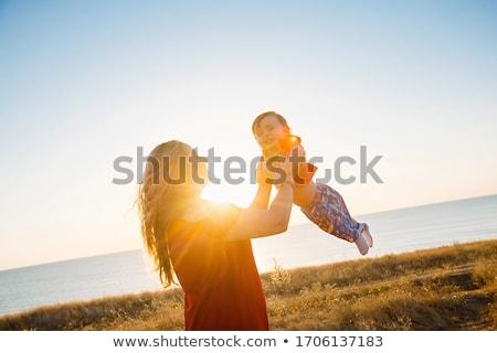 Zeegezicht liefde leuk hart illustreren vector Stockfoto © smocker03