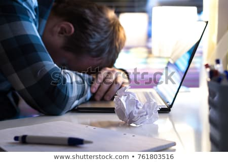 Сток-фото: бизнесмен · изолированный · страдание · несколько · не · удалось