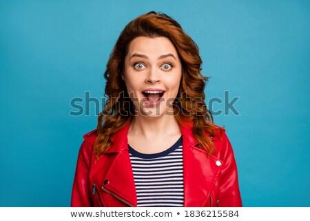 stylish woman with cue Stock photo © 26kot