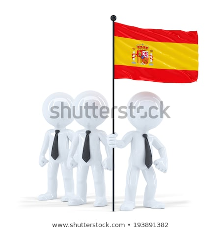 business team holding flag of spain isolated contains clipping path stock photo © kirill_m