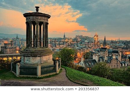 Clouds over Edinburgh castle Stock photo © elxeneize