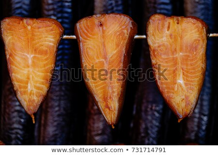 Hot smoked fish Stock photo © Makse