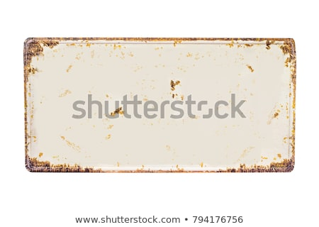 empty old painted metalic plate stock photo © 5xinc