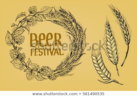 wreath of hops in the form of a circle stock photo © orensila