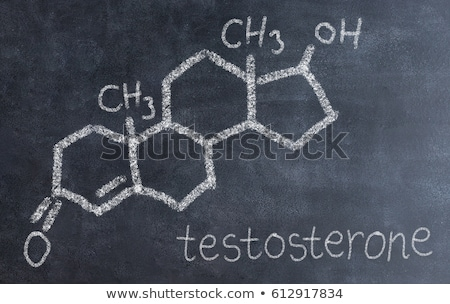 Blackboard chemische formule testosteron seks abstract Stockfoto © Zerbor