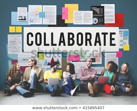 topluluk · işbirliği · işbirliği · sosyal · yatırım · simge - stok fotoğraf © lightsource
