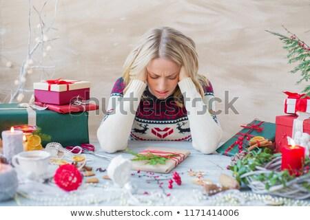 Fêtes stress main humaine chaotique gâchis décoration Photo stock © Lightsource