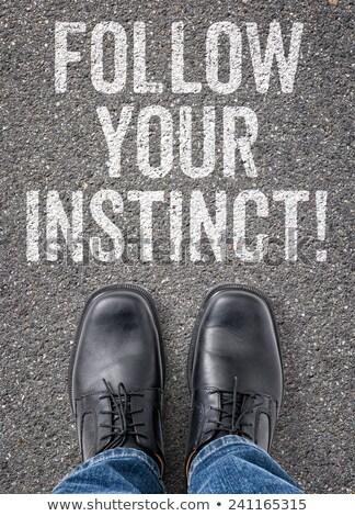 Tekst vloer instinct business weg teken Stockfoto © Zerbor