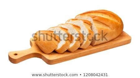 長い ローフ 暗い 小麦粉 食品 ストックフォト © OleksandrO