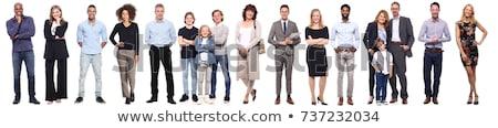 Retrato alegre empresario aislado blanco mano Foto stock © deandrobot
