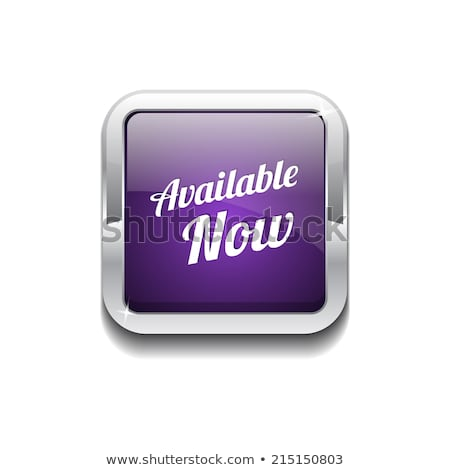 Stock photo: Available Now Purple Circular Vector Button
