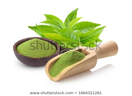 Japon yeşil çay hizmet çay çanak yeşil Stok fotoğraf © Klinker