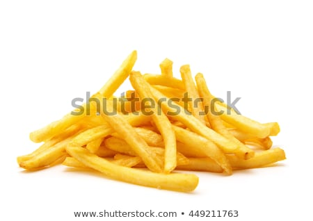 croustillant · frites · françaises · isolé · blanche · macro · or - photo stock © Klinker