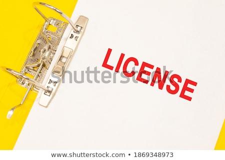palavra · dobrador · cartão · foco · lei · mercado - foto stock © tashatuvango