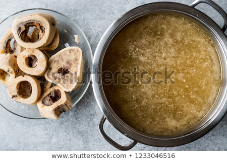 Homemade bone broth Stock photo © BarbaraNeveu