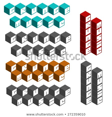 rock music cubic square fonts in different colors Stock photo © Melvin07
