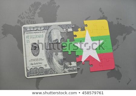 EUA Myanmar banderas rompecabezas vector imagen Foto stock © Istanbul2009