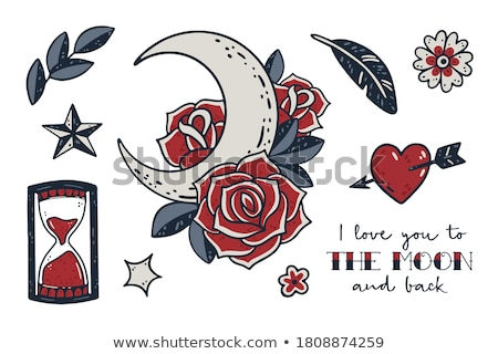 Valentine's Day greeting card with flowers heart on grunge backg stock photo © WaD