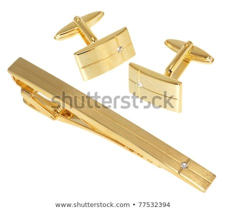 Tie-pin and cuff links on white Stock photo © vtls